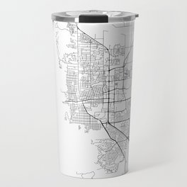 Minimal City Maps - Map Of Boulder, Colorado, United States Travel Mug
