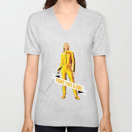 Fight Like a Girl: Beatrix Kiddo Unisex V-Neck