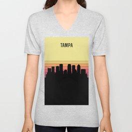 Tampa Skyline Unisex V-Neck