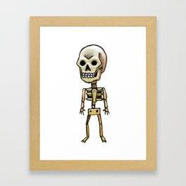 Lonely skull Framed Art Print