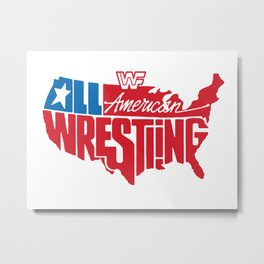 All American Wrestling Metal Print