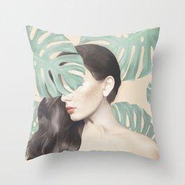 Monstera Suara Throw Pillow