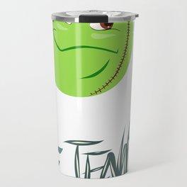 Tennis ball smiley Travel Mug