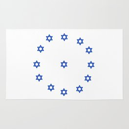 Star of David. A Clock.-Magen David,israel,judaism,bible, מָגֵן דָּוִד, jerusalem Rug