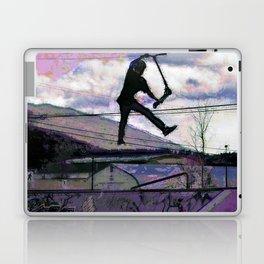 Deck Grab Champion - Stunt Scooter Art Laptop & iPad Skin