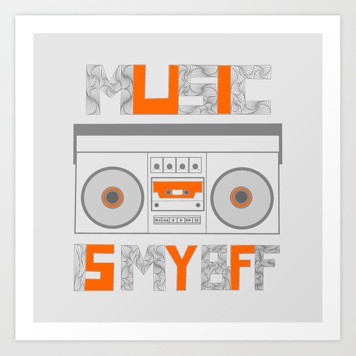 Music Is My BFF Art Print