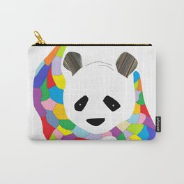 Patchwork Panda Carry-All Pouch