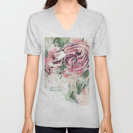 Abstract roses Unisex V-Neck