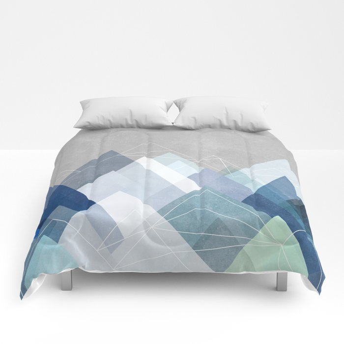 graphic 107 x blue comforters by maboe society6