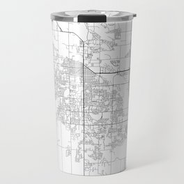 Minimal City Maps - Map Of Fort Collins, Colorado, United States Travel Mug