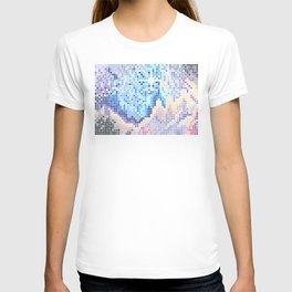 Pixelated Nebula Blue T-shirt