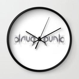 DRUG PUNK ambigram Wall Clock