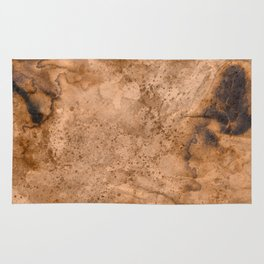 Acrylic Coffee Stained Paper Rug