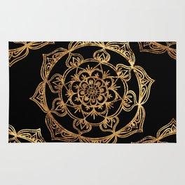 Gold Foil Mandala Rug