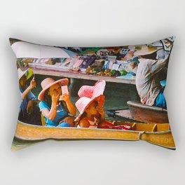 Thailand Floating Market Rectangular Pillow