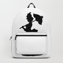 Victorian Woman - black & white - Woman in a Dressing Gown Backpack