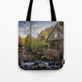 Autumn Water Wheel Tote Bag