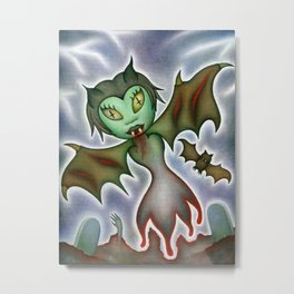 Tilda: Blood Elemental Metal Print