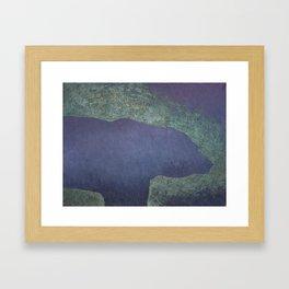 Stone Bear Framed Art Print