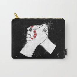 Happy Galentine's day! Anti Valentine's girlfriends print Carry-All Pouch