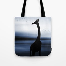 Giraffe and nature Tote Bag