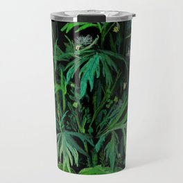 Green & Black, summer greenery Travel Mug