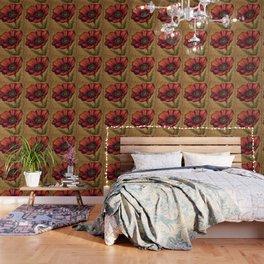 Antique Poppy Wallpaper