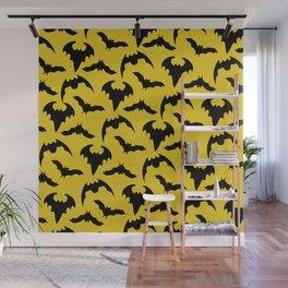 Yellow & Black Bats Wall Mural