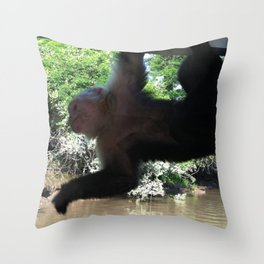 Monkey Business Throw Pillow