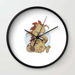 Negative Dragon light Wall Clock