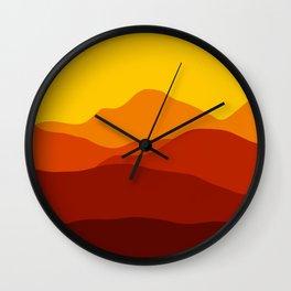 Mountains at Sunset  #society6 #decor #buyart #artprint Wall Clock