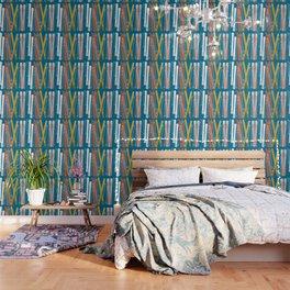 Colorful Ski Pattern Wallpaper