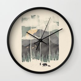 Spring Mountain Weather Wall Clock