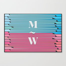 Man and Woman Creative Artwork Canvas Print