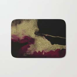 Black Honey - resin abstract painting Bath Mat