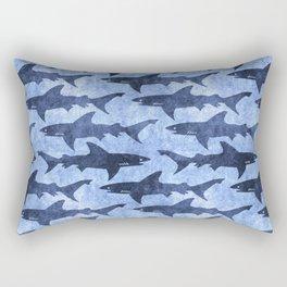 Blue Ocean Shark Rectangular Pillow