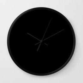 Classic Black & White Polka Dots Pattern Wall Clock