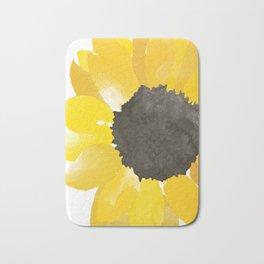 Watercolor Sunflower Bath Mat