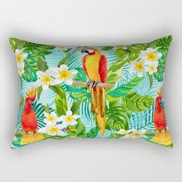 Tropical Parrot Chillin Rectangular Pillow