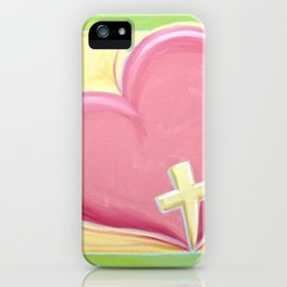 Heart with Cross iPhone Case