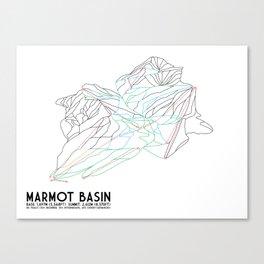 Marmot Basin, Alberta, Canada - Minimalist Trail Art Canvas Print