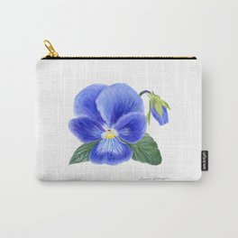 Purple Pansy by Teresa Thompson Carry-All Pouch