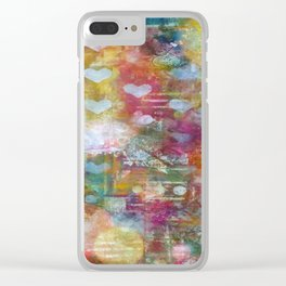 Cosmos Love Clear iPhone Case