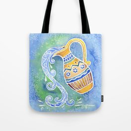 Zodiac Collection: Aquarius Tote Bag
