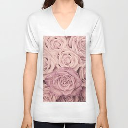 Some People Grumble - Pink Rose Pattern - Roses Unisex V-Neck