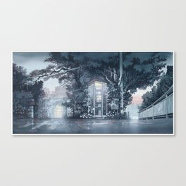 """""""A Night Street"""" watercolor painting Canvas Print"""