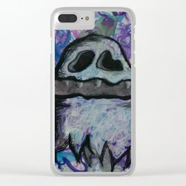 Frazzled Ghostie Clear iPhone Case