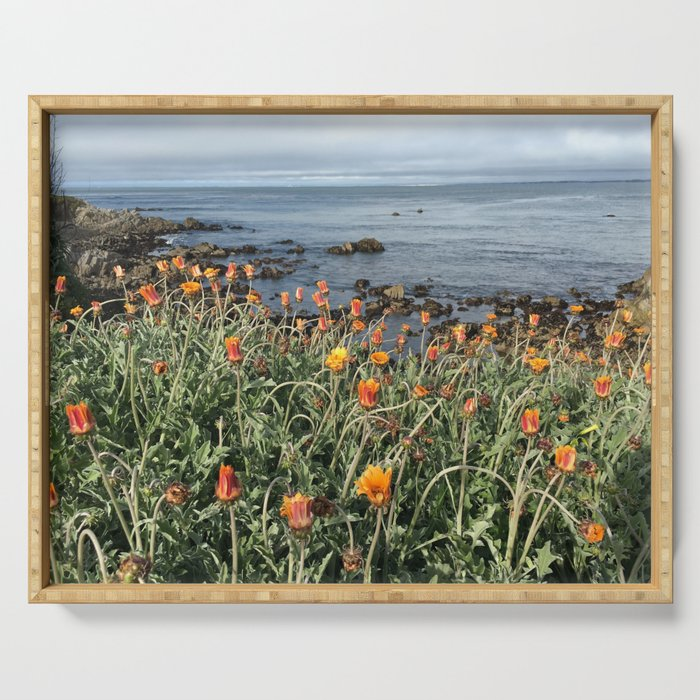 Orange blooms along the Pacific Serving Tray