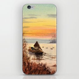 A Great Day For Hunting Ducks iPhone Skin