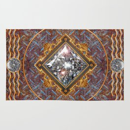 Diamond Cut Steel Rug